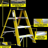 Jefferson 10 Tread Fibreglass Step Ladder