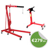 2 Ton Folding Engine Crane & 1000lbs Engine Stand Set