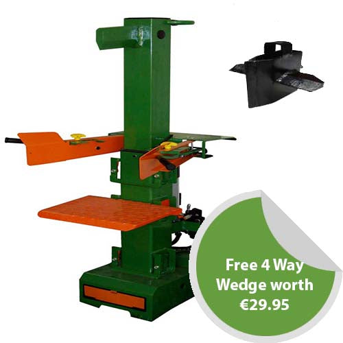 8 Ton Electric Vertical Log Splitter plus FREE 4 Way Wedge