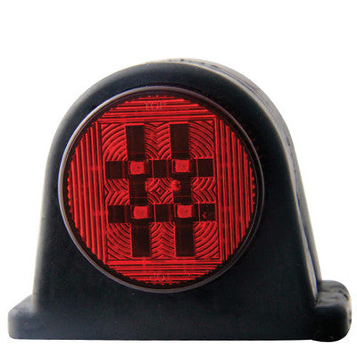 12/ 24v Rubber LED Side Marker (Red/ Clear)