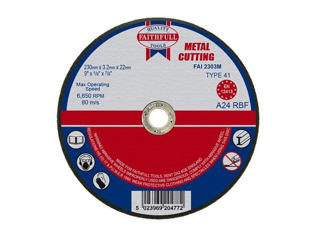Faithfull 230mm Metal Cutting Disc (9'')