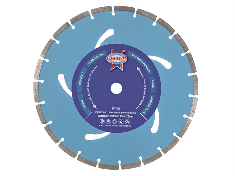 Faithfull 115mm x 22.2mm Contract Diamond Blade