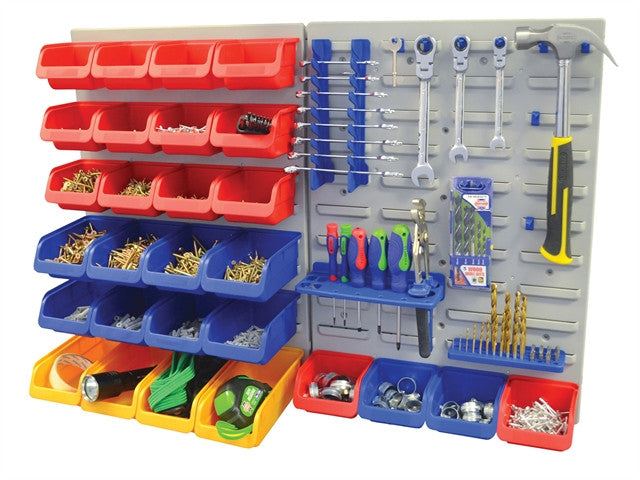 43pc Storage Bin Set c/w Wall Panels