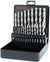 Terrax 25pc HSS Ground Drill Bit Set (1 - 13mm)