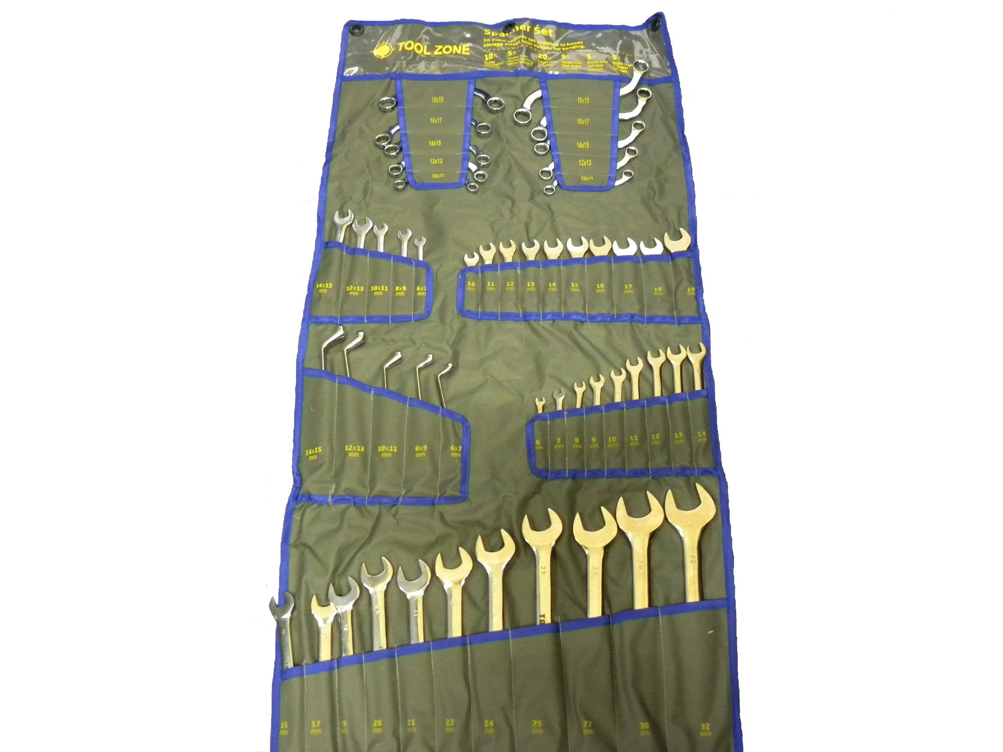 Toolzone 50pc Metric Mixed Spanner Set