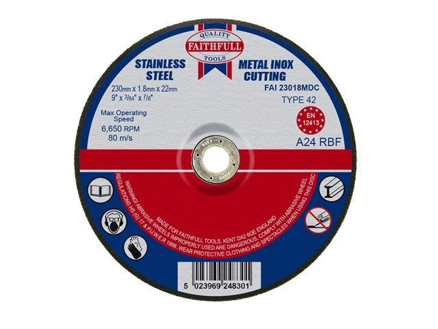 Faithfull 230mm (9'') Stainless Steel Cutting Disc