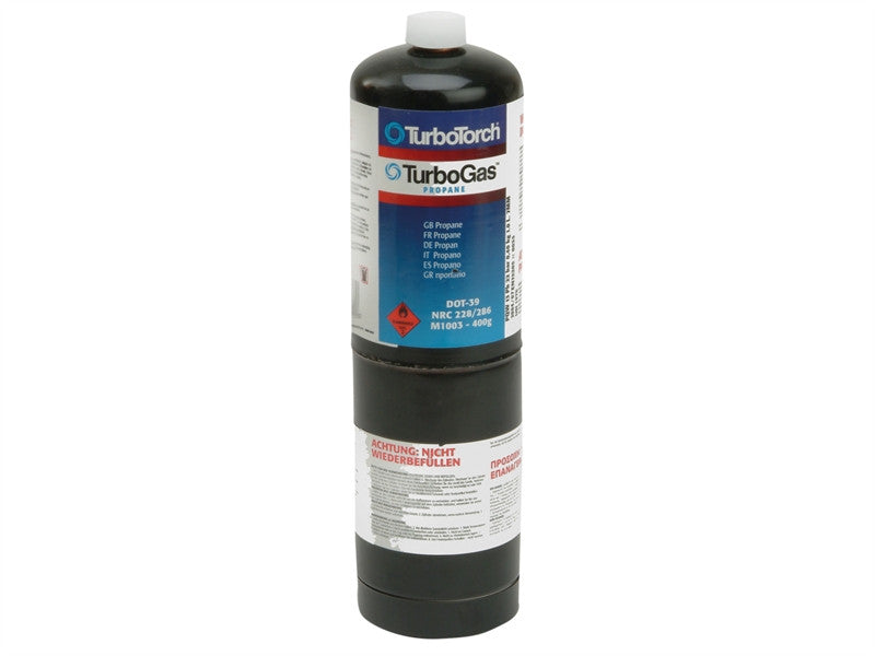 Faithfull 400g Propane Gas Cylinder (CGA600 Fitting)
