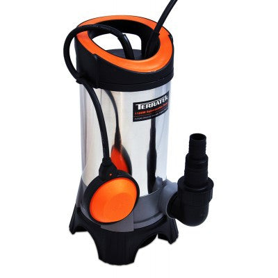 Terratek 1100w Submersible Water Pump Stainless Steel (9.5M)