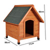 Natura Medium Saddle Roof Wooden House (88 x 77 x 82cm)