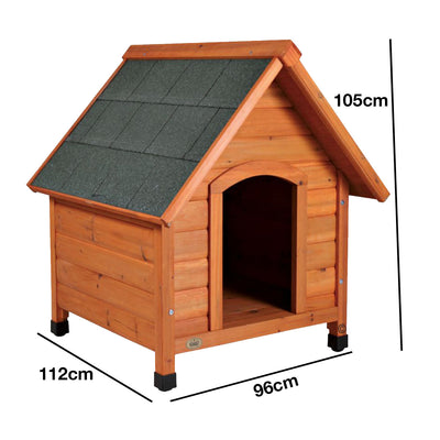 Natura X Large Saddle Roof Wooden House (112 x 96 x 105cm)