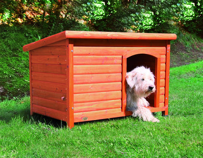 Natura Large Flat Roof Wooden Kennel (104 x 68 x 72cm)