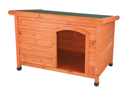 Natura X Large Flat Roof Wooden Kennel (116 x 82 x 79cm)