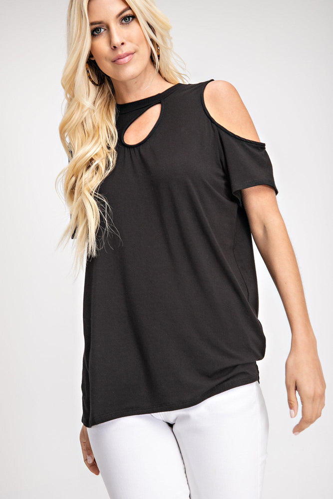 vetue-Boutique-tampa-st-petersburg-florida-online-clothing-accessories-trendy-stylish-contemporary-fashion-forward-black-short-sleeve-cut out-t shirt-top