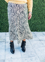 Farrow Safari Stripes Long Flare Skirt