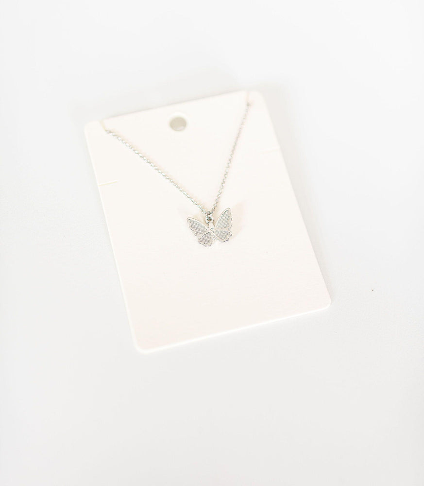 dainty butterfly pendant necklace wing earrings set vetue Boutique tampa saint Petersburg florida online clothing accessories casual stylish contemporary fashion store