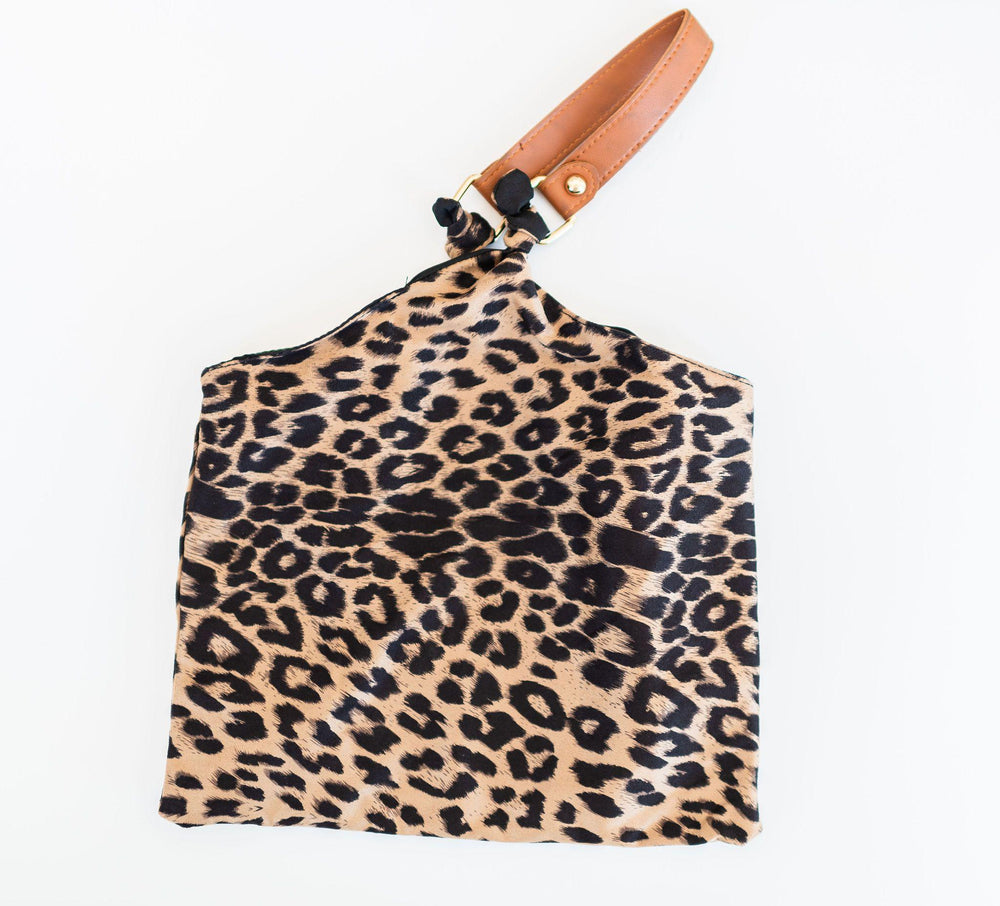 beige lightweight leopard print handkerchief bag snap closure faux tan leather hand vetue Boutique tampa saint Petersburg florida online clothing accessories casual stylish contemporary fashion store