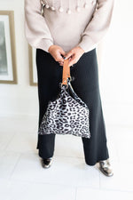 ADLEY black knit wide leg pull on pants