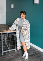 FRIDA lightweight striped midi cardigan