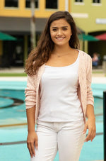 blush long sleeve button up cardigan-Vetue Boutique FL USA online boutique -Women's boutique for great quality fun, trendy, unique, stylish clothing and accessories at amazing prices