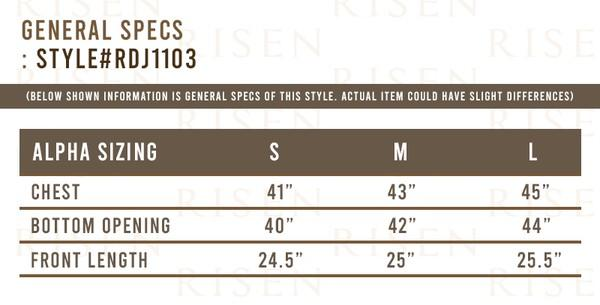 Risen Jeans size guide