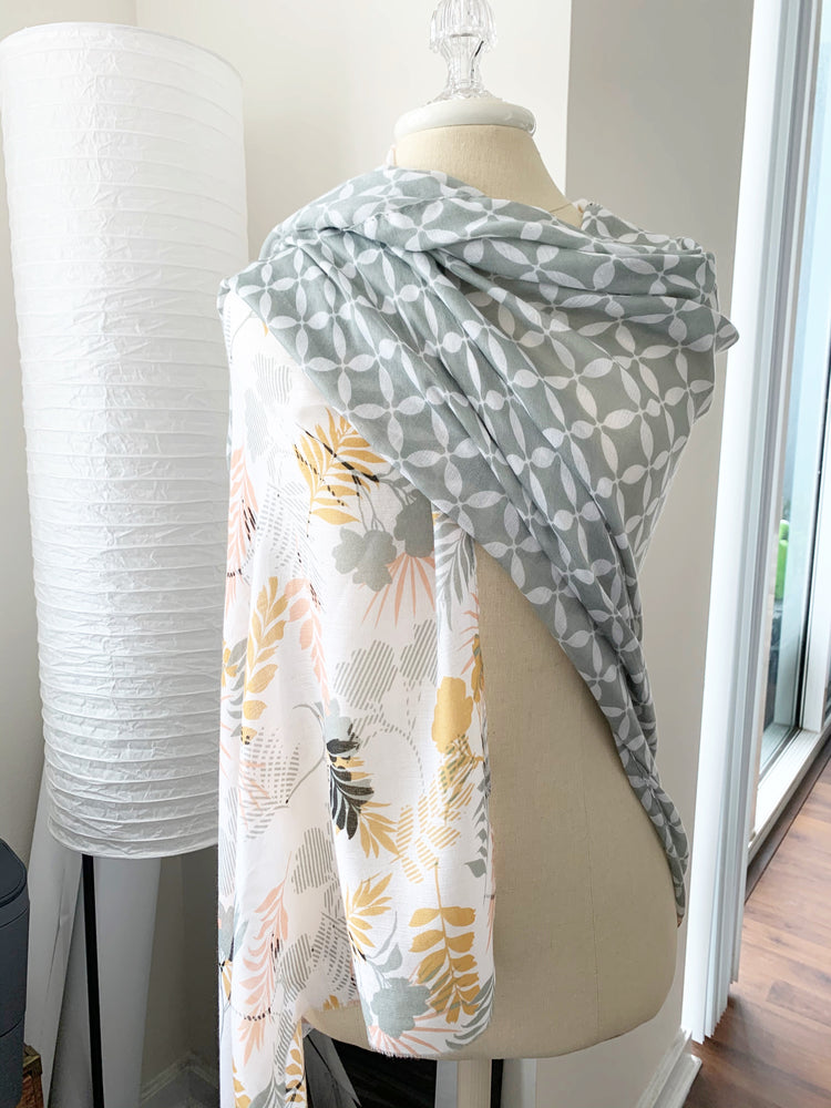 agrey contrast scarf available online at vetue boutique