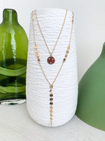 2 strand circle Y necklace vetue Boutique tampa saint Petersburg plant city florida online women's clothing accessories casual stylish contemporary fashion