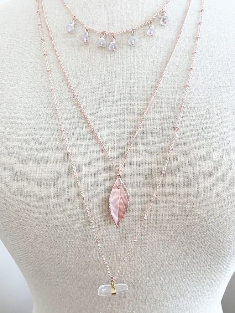 vetue-Boutique-tampa-st-petersburg-florida-online-clothing-accessories-trendy-stylish-contemporary-fashion-forward-rose-gold-finish-3-layer-necklace-crystals-and-leaf