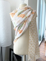 Oh So Pretty Floral Contrast Wrap Scarf