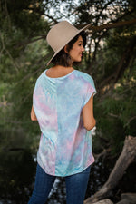 backtie dye short sleeves top available online at vetue boutique