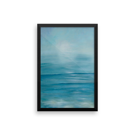 Tranquil Seas, framed