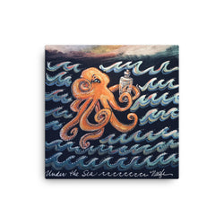 Curious Octopus, canvas print