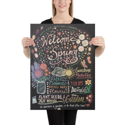 Welcome Spring - canvas print