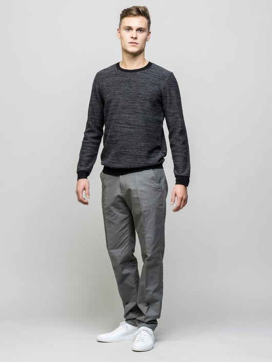 Bib Jumper, Mid Grey Black