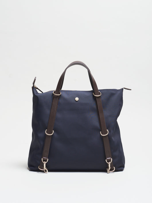 M/S Day Pack, Navy/Dark Brown