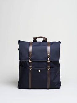 M/S Backpack, Navy/Dark Brown
