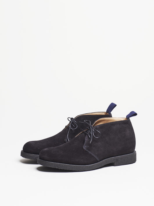 Capital Goods by Sanders Chukka Boot, Black Suede