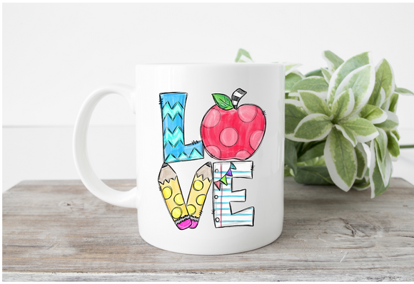 Love Teacher Theme Mug