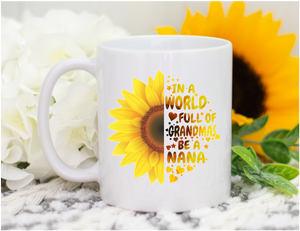 Nana Sunflower Mug