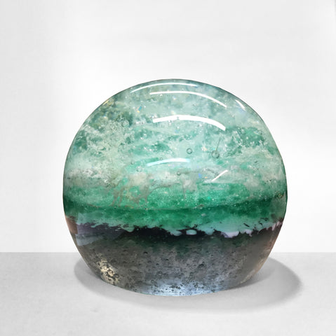 Scattered Glass Memorial Glass Cremation Ash Art & Custom Keepsakes Remembrance Sphere