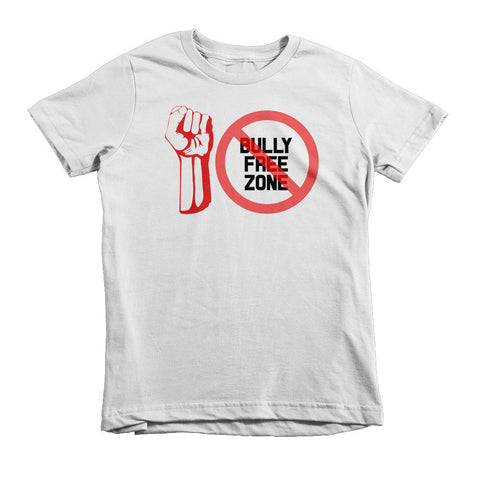 """BULLY FREE ZONE"" Short Sleeve Kids T-Shirt Ages 2, 4, And 6"
