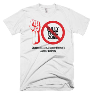 """BULLY FREE ZONE"" CELEBRITIES, ATHLETES AND STUDENTS AGAINST BULLYING Men's Premium Slim Fit T-Shirt"