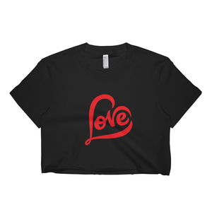 """LOVE"" Short Sleeve Crop Top For Teenagers And Adults"