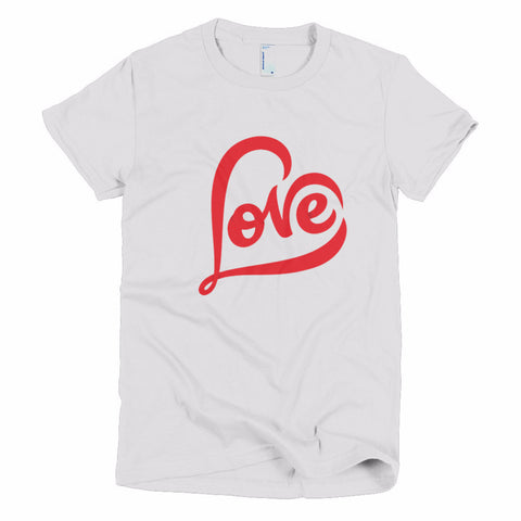 """LOVE"" Short Sleeve Women's T-Shirt"