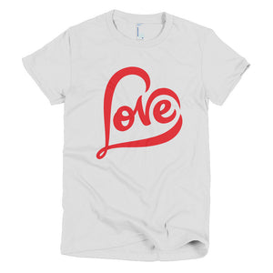 """LOVE"" Short Sleeve Women's Adult T-Shirt"