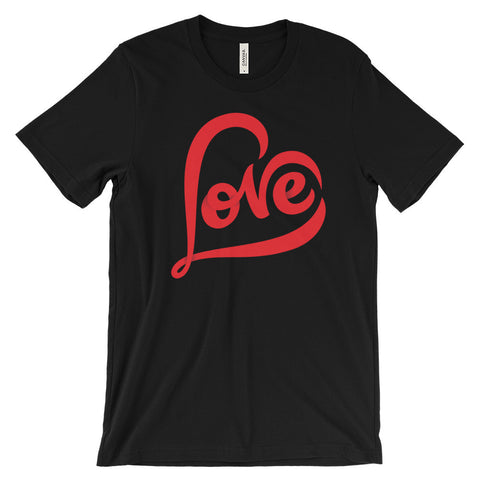 """LOVE"" Unisex Short Sleeve T-Shirt"