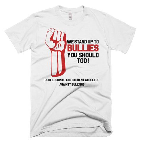 """WE STAND UP TO BULLIES"" SUPPORT OUR CELEBRITIES, ATHLETES AND STUDENTS AGAINST BULLYING Men's  Premium Jersey T-Shirt"
