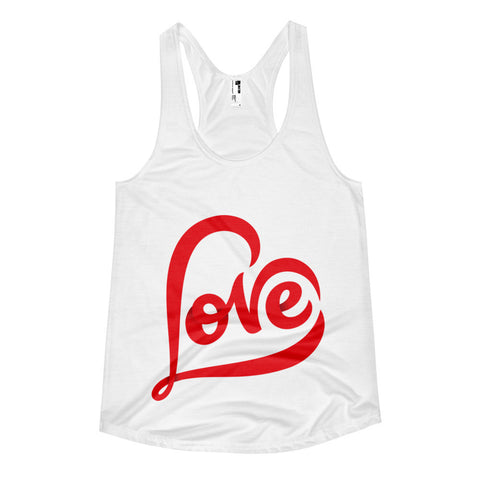 """LOVE"" Women's Adult Racerback Tank"
