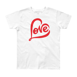 """LOVE"" Kids Short Sleeve T-Shirt Ages 8, 10 And 12"