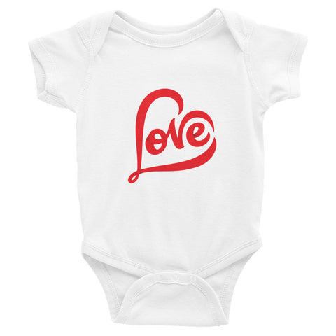 """LOVE"" Infants Short Sleeve One-Piece"