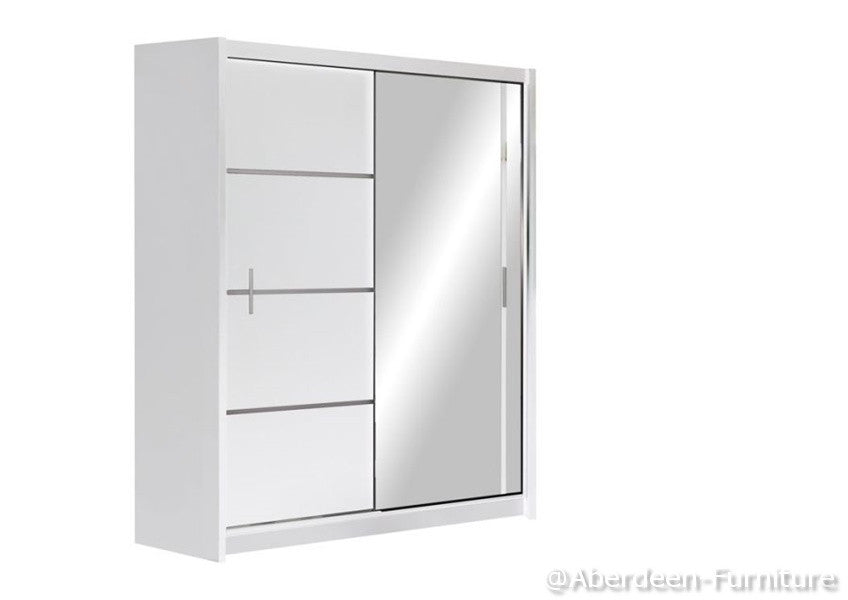 Wardrobe VISTA 150cm wide/white
